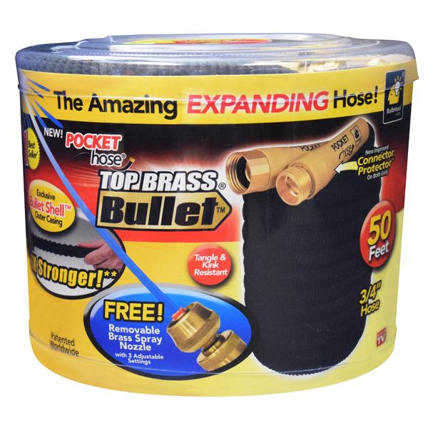 New Pocket Hose Top Brass Bullet