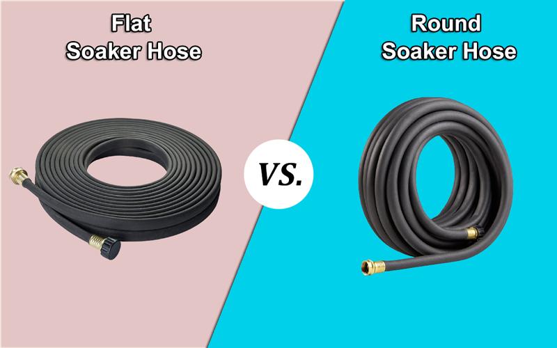 Flat Soaker Hose vs Round